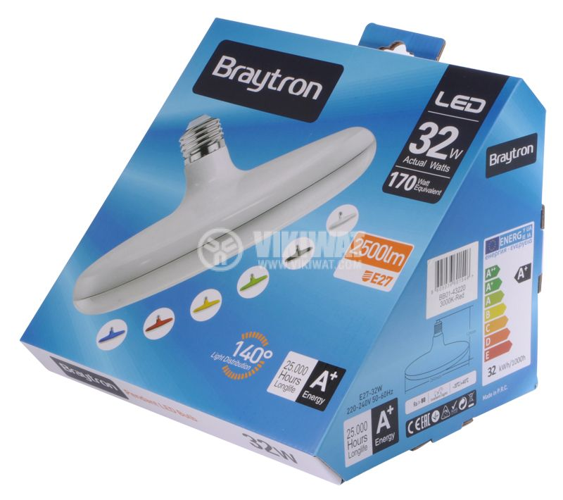 LED Lamp BB01-43220, E27, 32W, 2500lm - 4