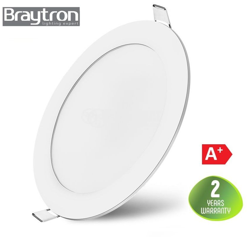 LED panel 6W, round, 220VAC, 380lm, 4200K, neutral white, ф120mm, recessed, SLIM, BP01-30610 - 1