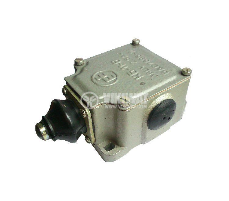 Краен изключвател, КБ-11-B, NO+NC, 380VAC, 2.5A, щифт - 2