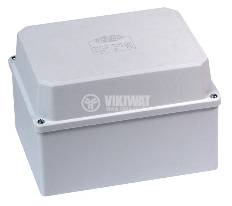 Junction box PK 180x140x125mm, outdoor mounting