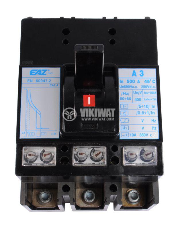 Автоматичен прекъсвач, А-3, 3P, 500A, 690VAC - 2