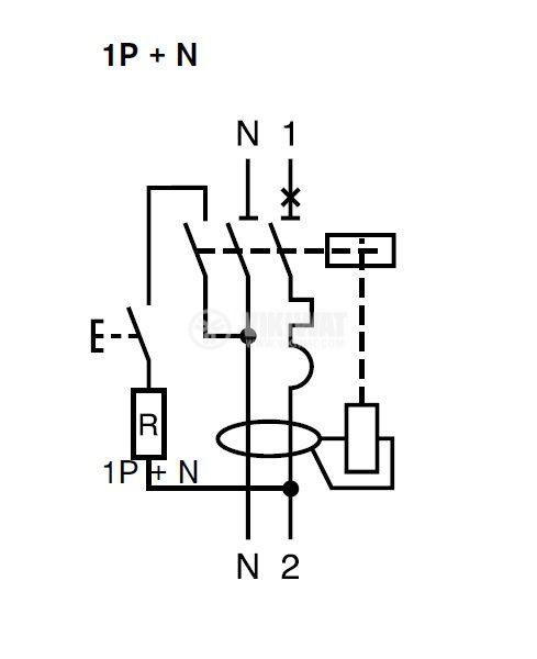Автоматичен предпазител с дефектнотокова защита DPN N Vigi 2P 25A 30mA AC-type - 5