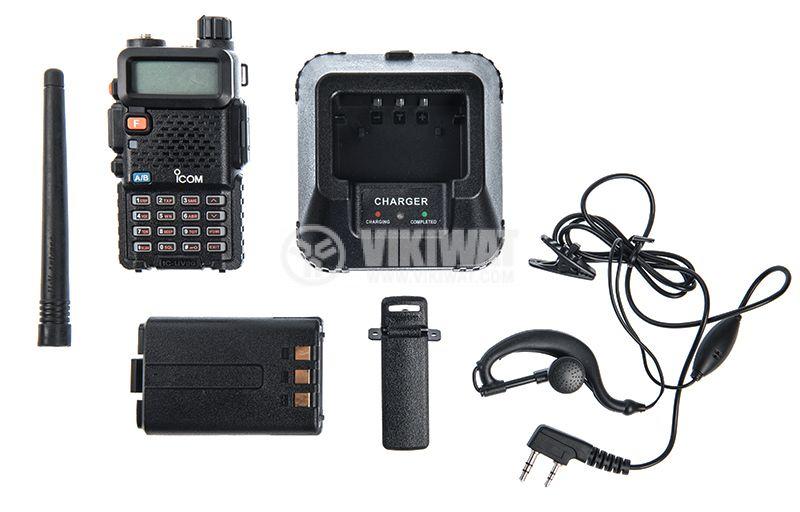 Радиостанция ICOM IC-UV90, двубандова, 10W, 7.4V - 2