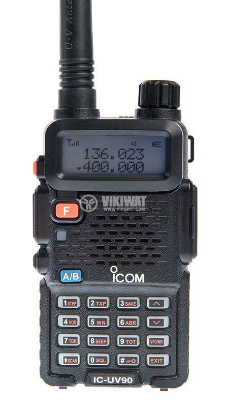 Радиостанция ICOM IC-UV90, двубандова, 10W, 7.4V - 8