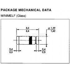Диод ценеров BZV55C3V9 SMD 3.9 V - 2