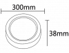 LED panel 24W, round, 220VAC, 1752lm, 6400K, cool white, ф300 mm, surface mounting, BP03-32430 - 2