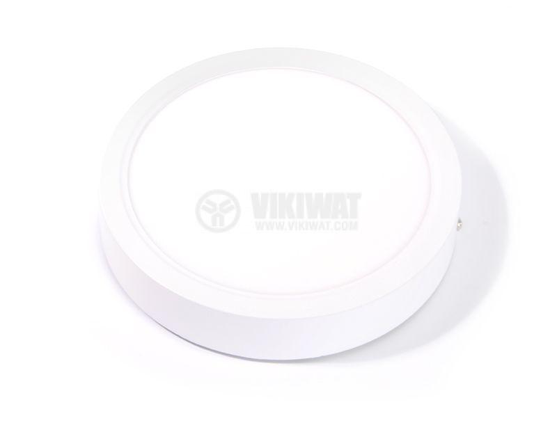 LED панел за обемен монтаж 24W, 220VAC, 6400K, студенобял, ф300mm, BP03-32430 - 9