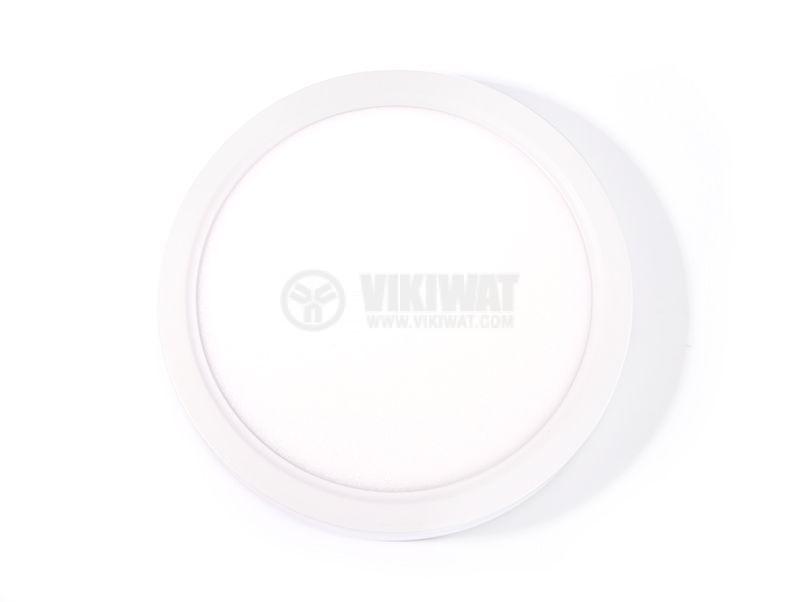 LED панел за обемен монтаж 24W, 220VAC, 6400K, студенобял, ф300mm, BP03-32430 - 10