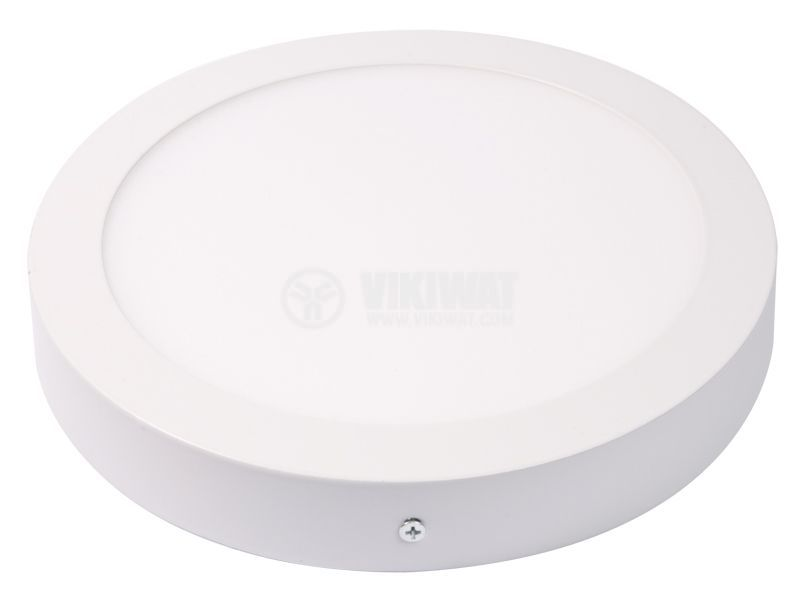 LED панел за обемен монтаж 24W, 220VAC, 6400K, студенобял, ф300mm, BP03-32430 - 11