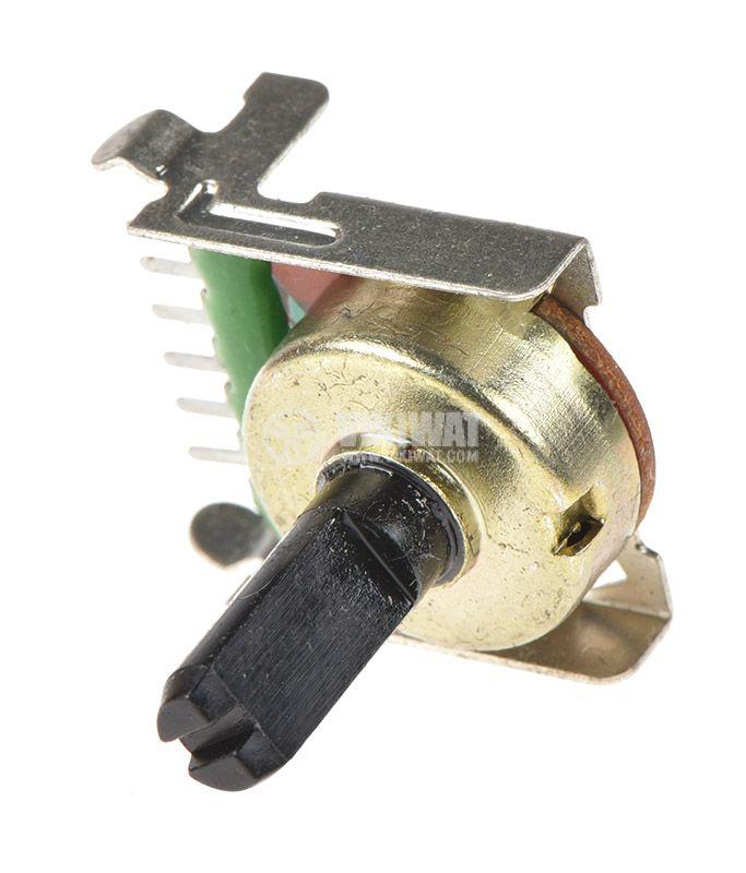 Potentiometer linear, 10kOhm, 0.125W, stereo, graphite - 3