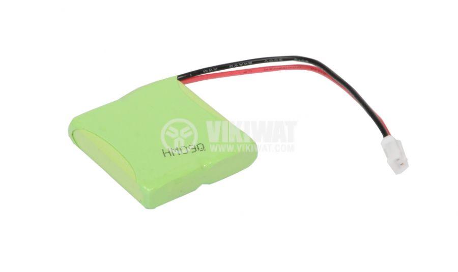 Rechargeable battery ACCU-E45/2.4V-600, 2.4V, 600mAh, Ni-Mh
