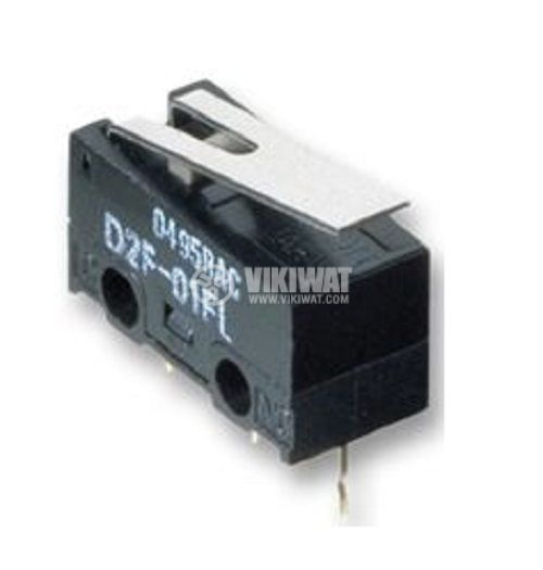 Micro Switch, D2F-01L, 0.1A, 30VDC, SPDT, NC+NO - 1