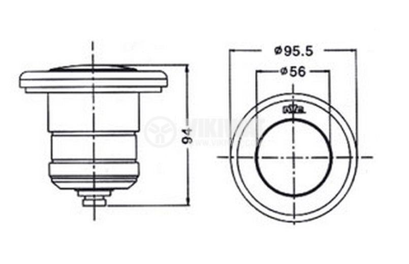 Waterproof lamp for pool NSH 009-C, 12VAC, 50W, G5.3, MR16, IP68 - 2