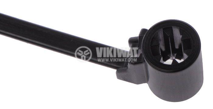 Cable tie, T50SOSSBS5E-PA66HS-BK, 4.8x160mm - 2