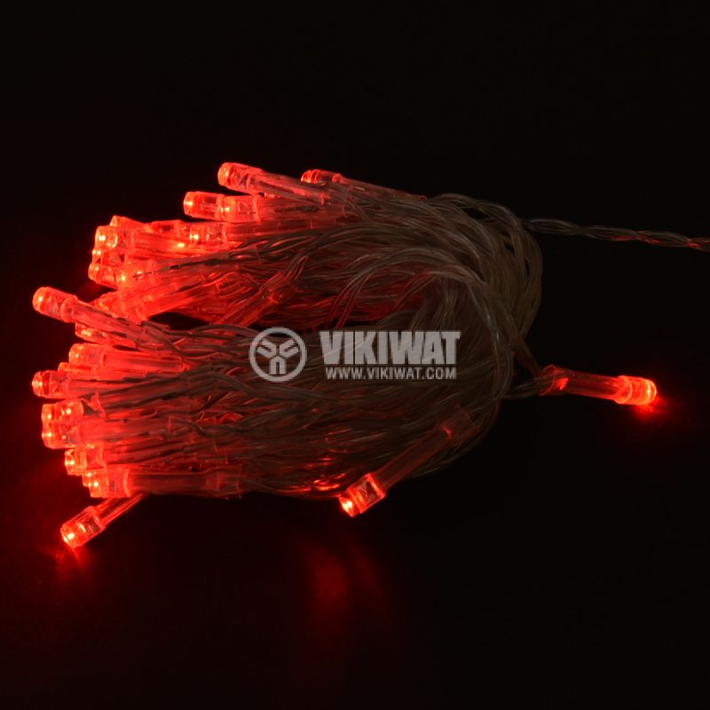 Christmas Decoration Rope Type, 3.7m, warm white, AA Batteries, 40 LEDs, red - 1