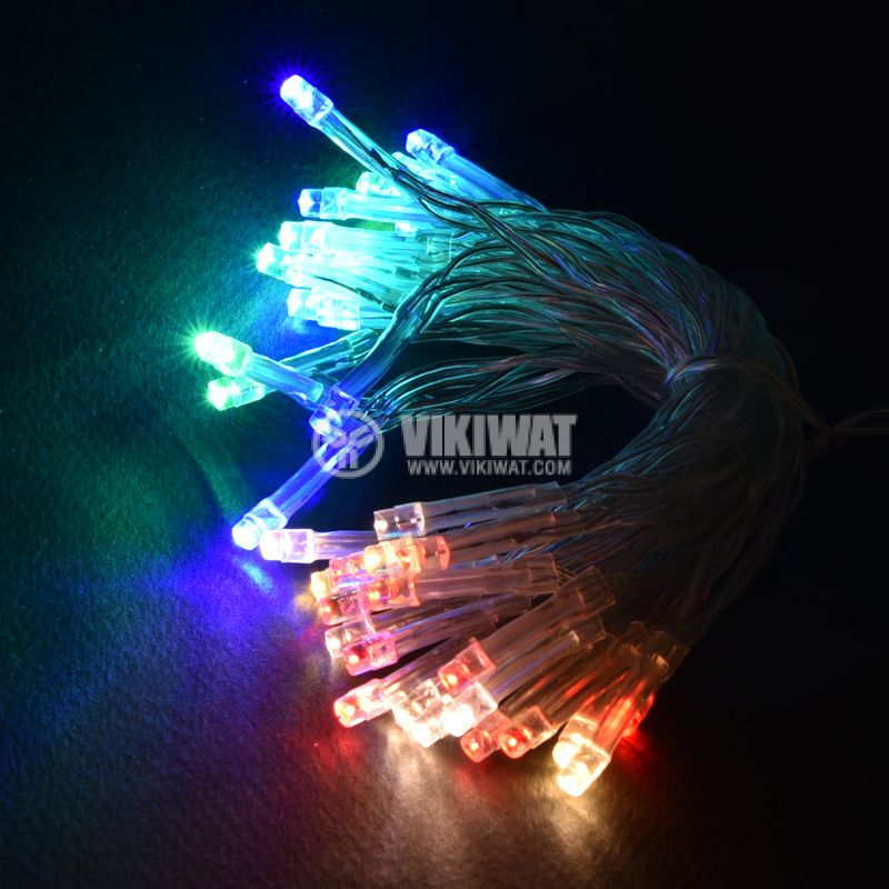 Christmas Decoration Rope Type, 3.7m, RGB, AA Batteries, 40 LEDs, RGB - 1