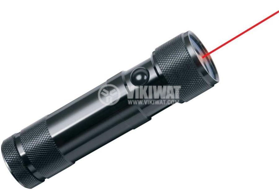 Eco-LED flashlight with laser, Brennenstuhl, 8LEDs, 50m, metal housing, 1179890100 - 3