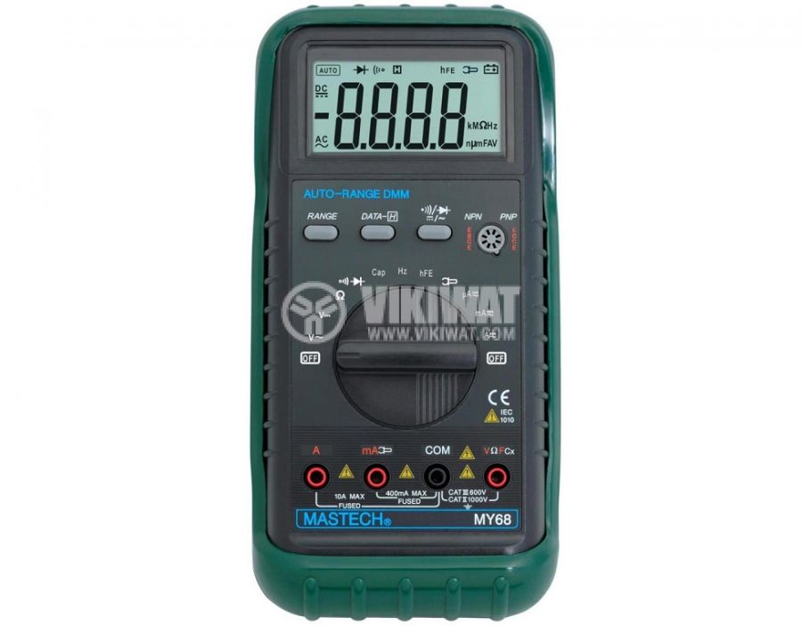 Digital Multimeter MY68, LCD (2000), Vdc, Vac, Adc, Aac, Ohm, F - 1