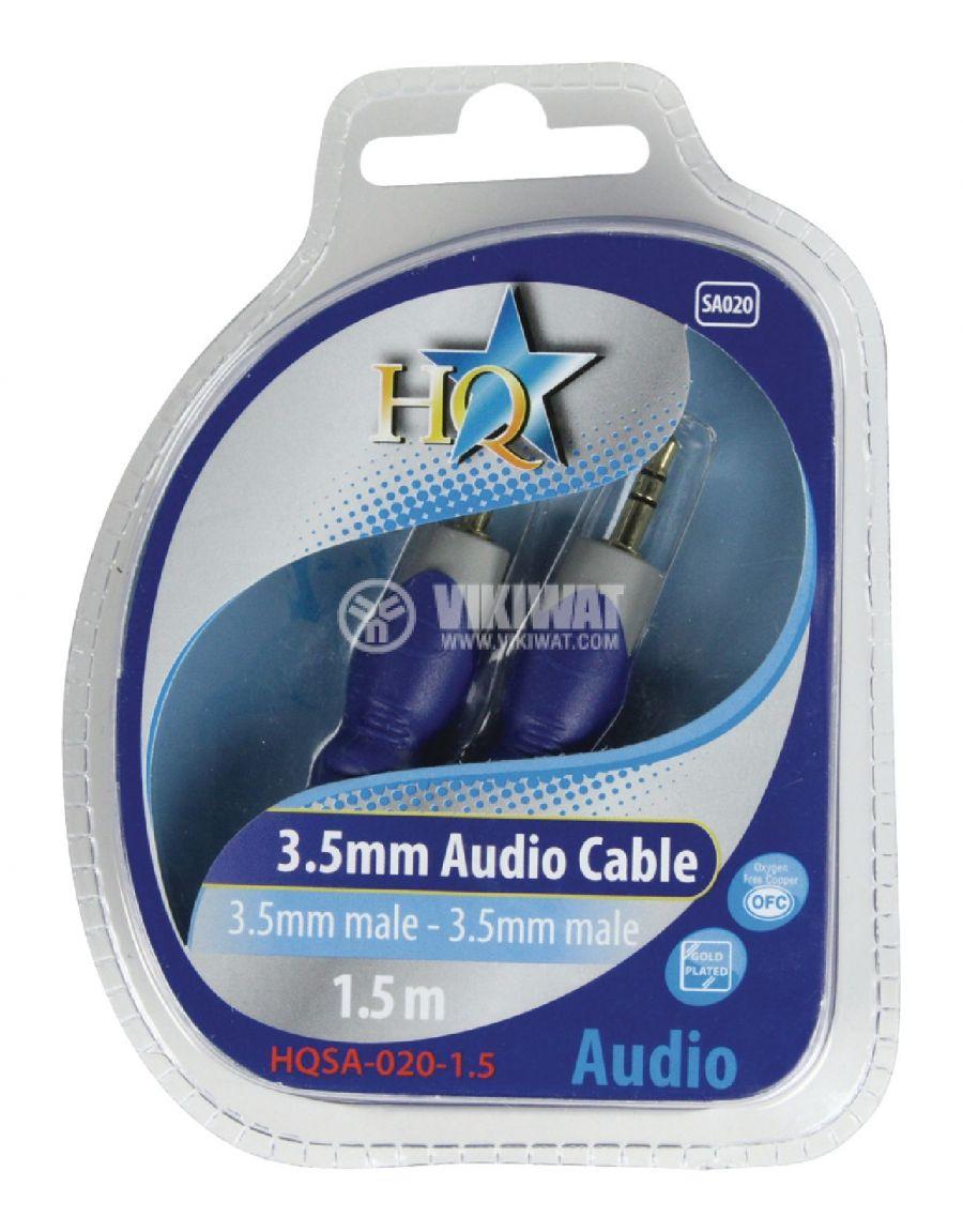 Cable, plug 3.5 stereo/m-plug 3.5 stereo/m, 1.5m - 4