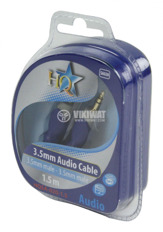 Cable, plug 3.5 stereo/m-plug 3.5 stereo/m, 1.5m - 5