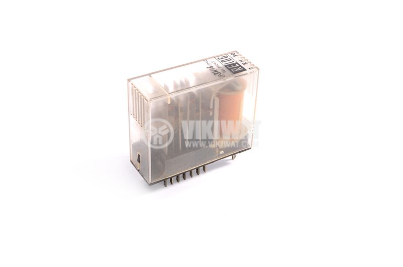 Electromagnetic relay TGL 26047 RELOG, 110VAC, 4NO-4NC (4PDT), 220VAC, with base - 1