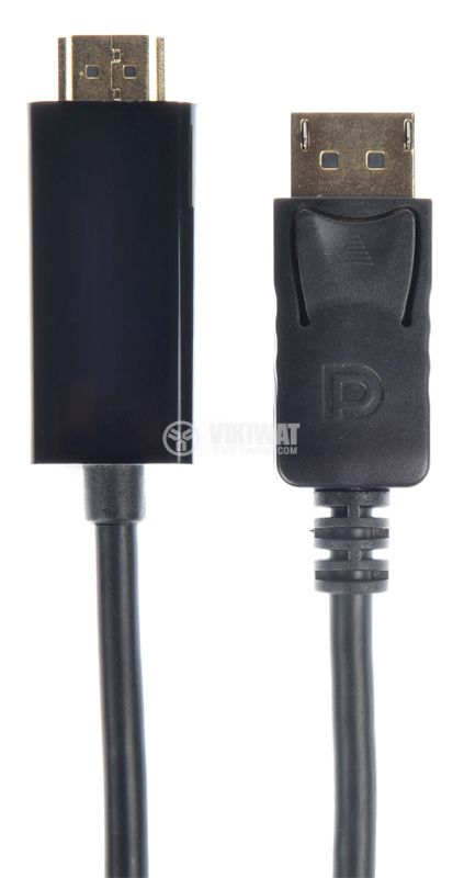 Cable HDMI / M to DP / M, 1.8m, high quality with gold-plated ends - 1