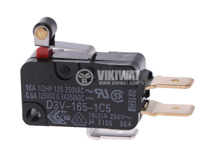 Micro Switch D3V-165-1C5, 16A/250 V, SPDT, NC+NO - 1
