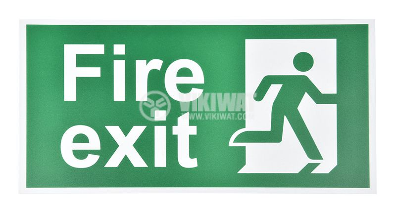 "Spare plate ""Fire exit"", BC14-01305, for LED emergency fixture BC14-01100"