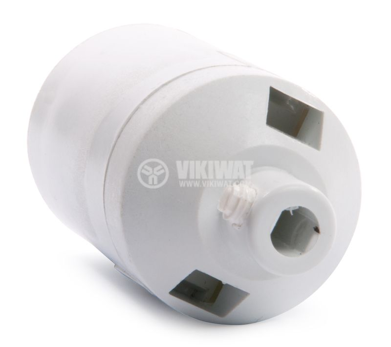 Lamp holder E27, White, 250V, Screwless - 3