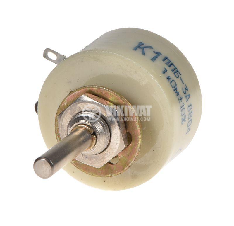 Potentiometer PPB-3A, linear, wire, 1kOhm, porcelain - 3