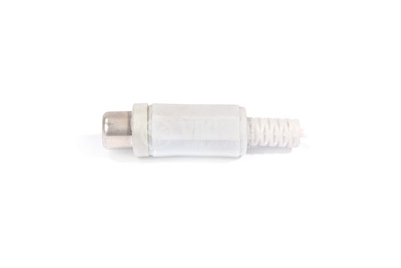 Cable connector RCA F, F-838 gray - 2