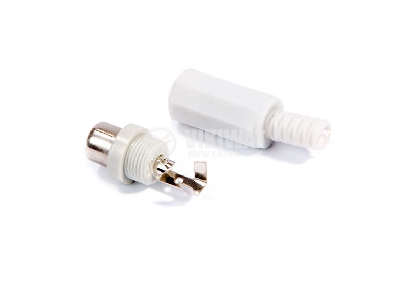 Cable connector RCA F, F-838 gray - 3