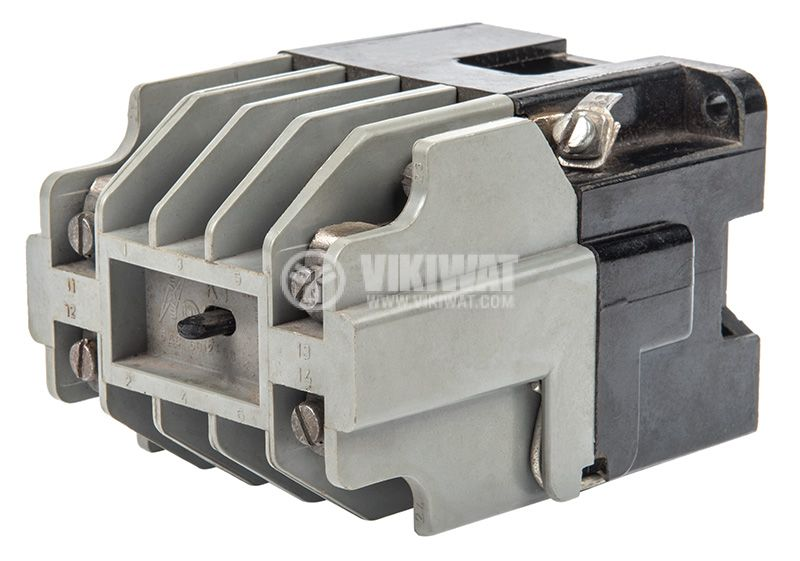 Contactor, three-phase, coil 220VАC, 3PST - 3NO, 10A, К1, 2NO+2NC - 3