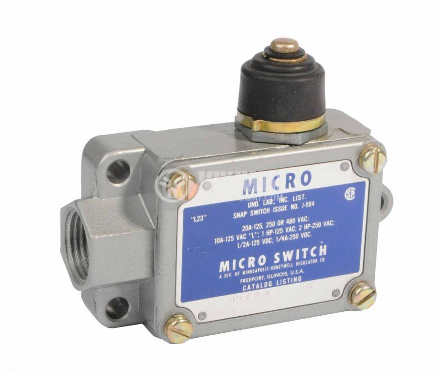 Limit Switch BAF1-2RN RH, SPDT-NO+NC, 20A/250VAC, plunger - 1
