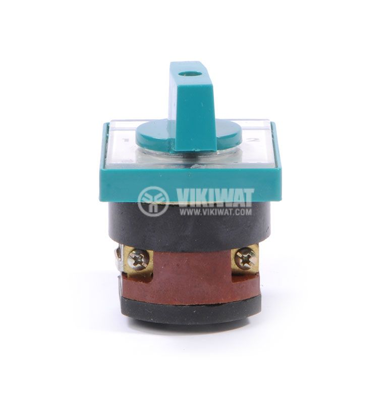 Rotary cam switch, 10А, 250VAC, 1 section, 2 contacts, 3 position, Metop - 5