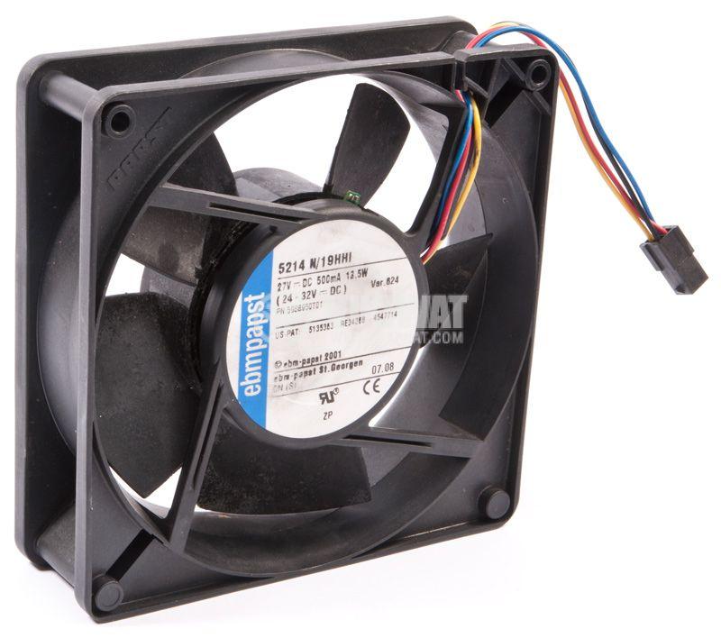 Fan 5214 N / 19HHI, axial, 127x127x38 mm, 27VDC, 500mA, ball bearing - 2