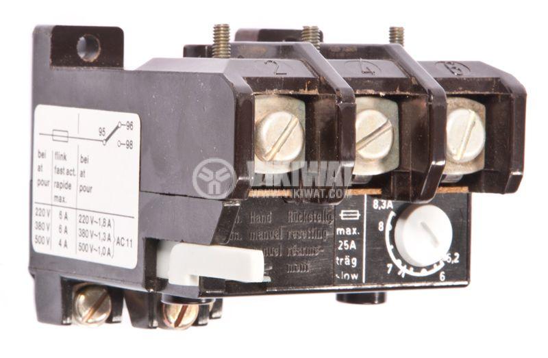 Thermal protection relay, TSA 45P, TRI-PHASE, 5.2-8.3A, 2PST - NO + NC, 6A, 380VAC - 1