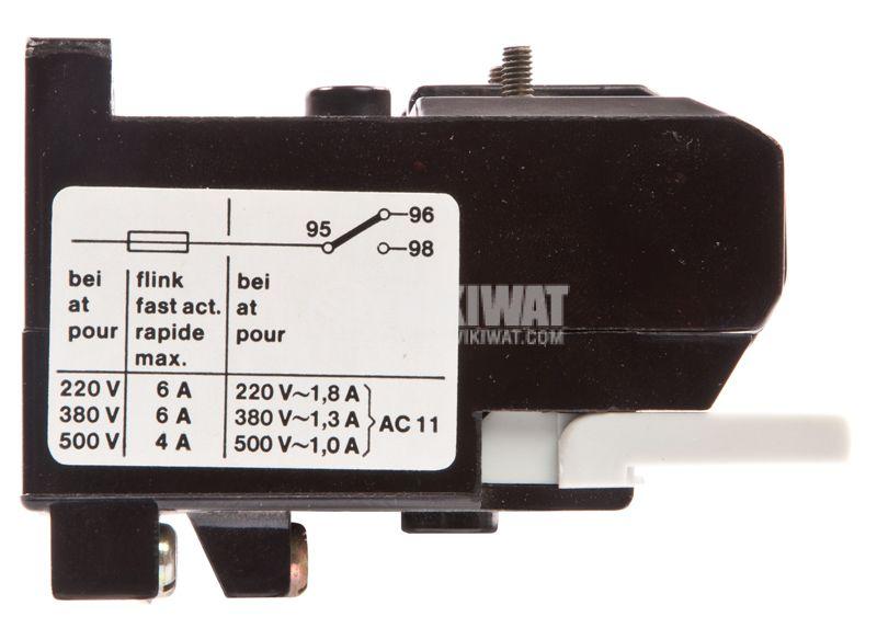 Thermal protection relay, TSA 45P, TRI-PHASE, 5.2-8.3A, 2PST - NO + NC, 6A, 380VAC - 2
