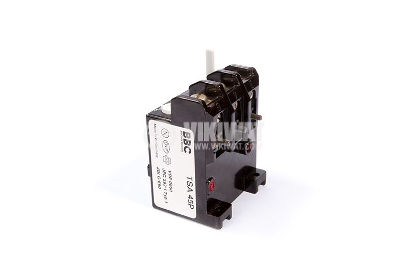 Relay thermal protection, three-phase, 6.3-10A, NO + NC, 6A / 380VAC, TSA 45P - 1