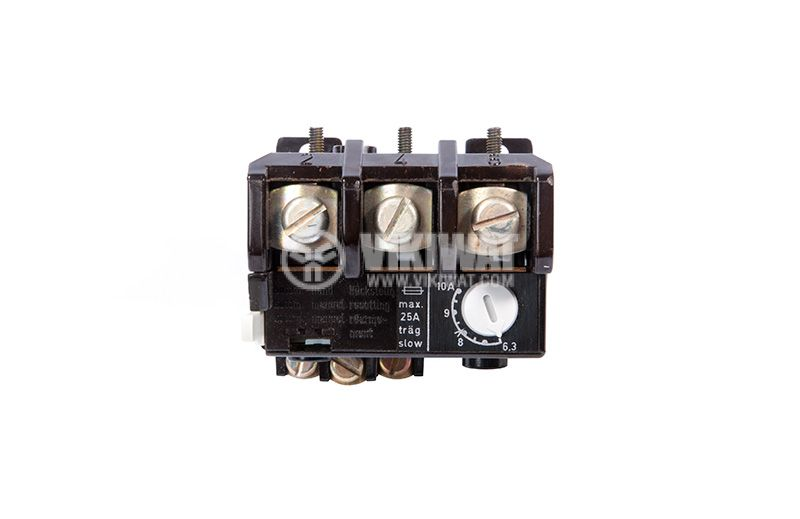 Relay thermal protection, three-phase, 6.3-10A, NO + NC, 6A / 380VAC, TSA 45P - 3