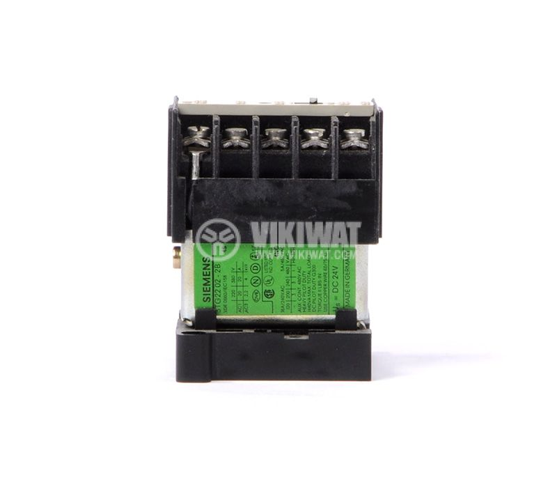 Contactor 02-2B SIEMENS, 4P, 8A, 24 VDC, 2.2kW, 4kW 3TG22 - 1