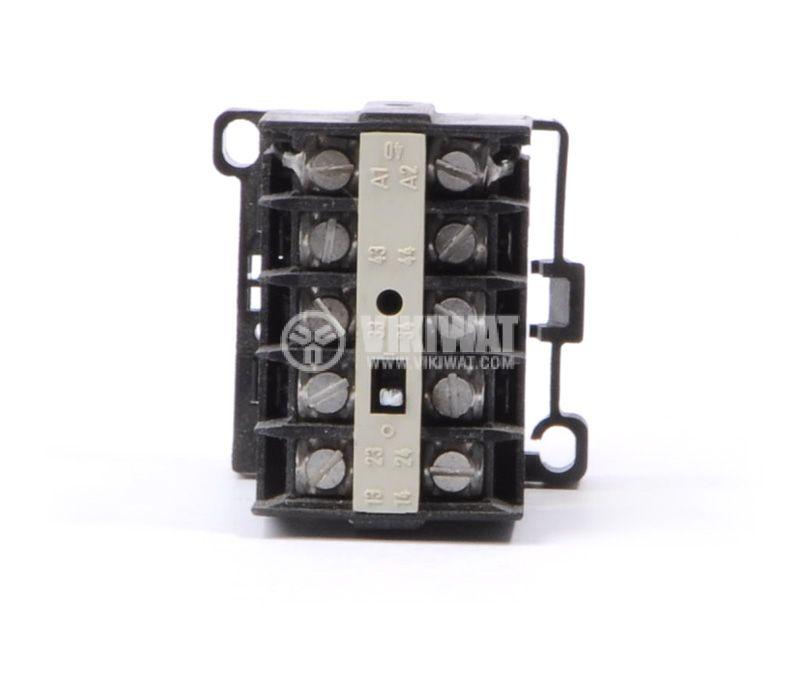 Contactor 02-2B SIEMENS, 4P, 8A, 24 VDC, 2.2kW, 4kW 3TG22 - 5