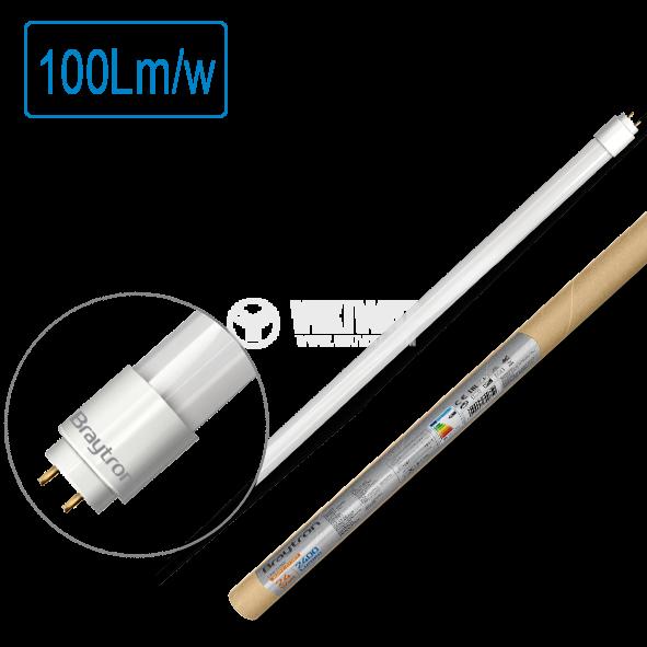 LED тube, 1500mm, 24W, 220VAC, 2430lm, 4200K, neutral white, G13, T8, double side, BA52-01581 - 1