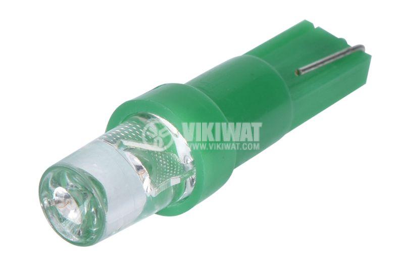 Автомобилна LED лампа, L002G, T5, 12VDC, зелена, дифузна - 3
