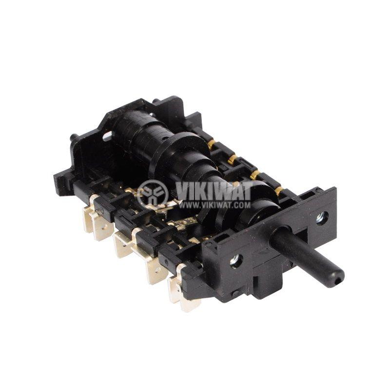 Ключ за фурна, 6 тактов (5+0 позиции), 16A/230VAC - 1