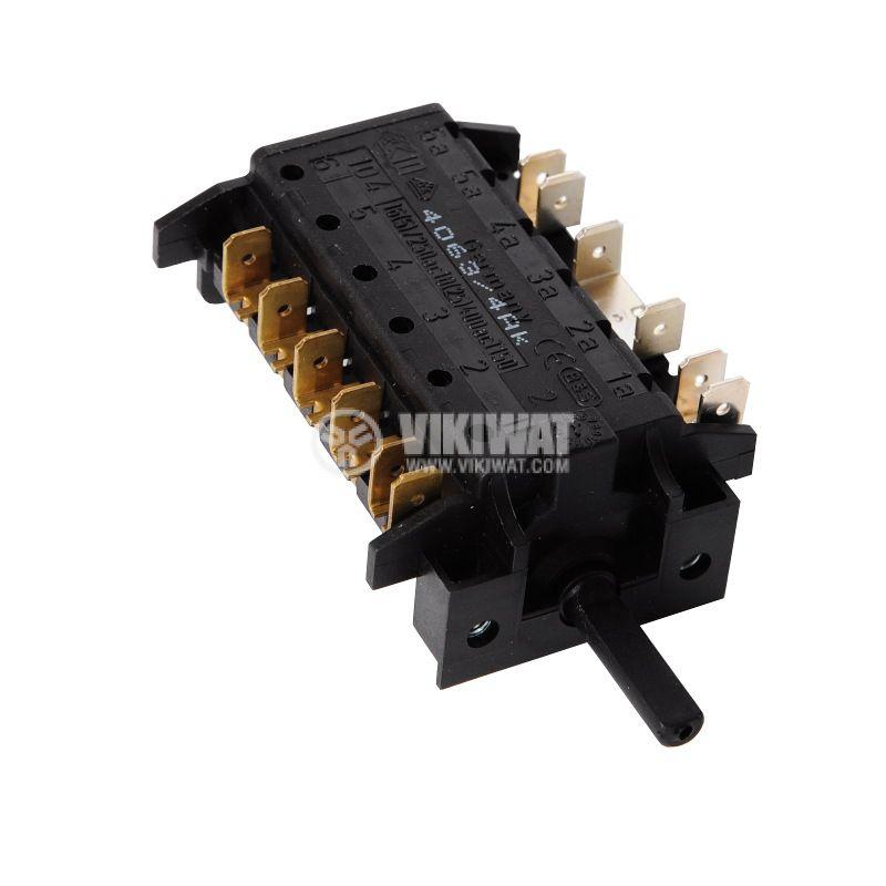 Ключ за фурна, 6 тактов (5+0 позиции), 16A/230VAC - 2