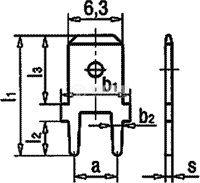 Конектор, плосък, FS1536/NC, 6.3x0.8mm, мъжки, единичен - 2