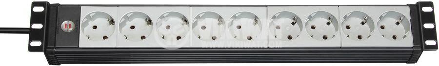 9-way Extension socket for 19'' switch cabinet 3m Premium-Line Brennenstuhl - 1