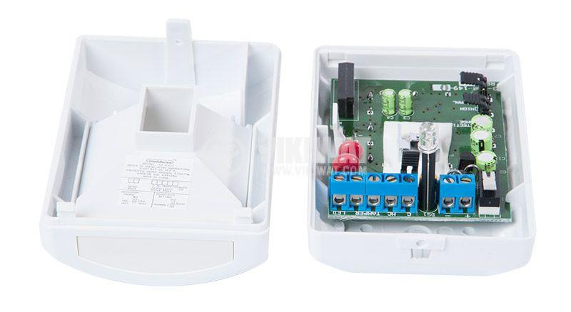 Automatic infrared (PIR) sensor, wall mount 12VDC, 15x10m, IntelliSense - 3