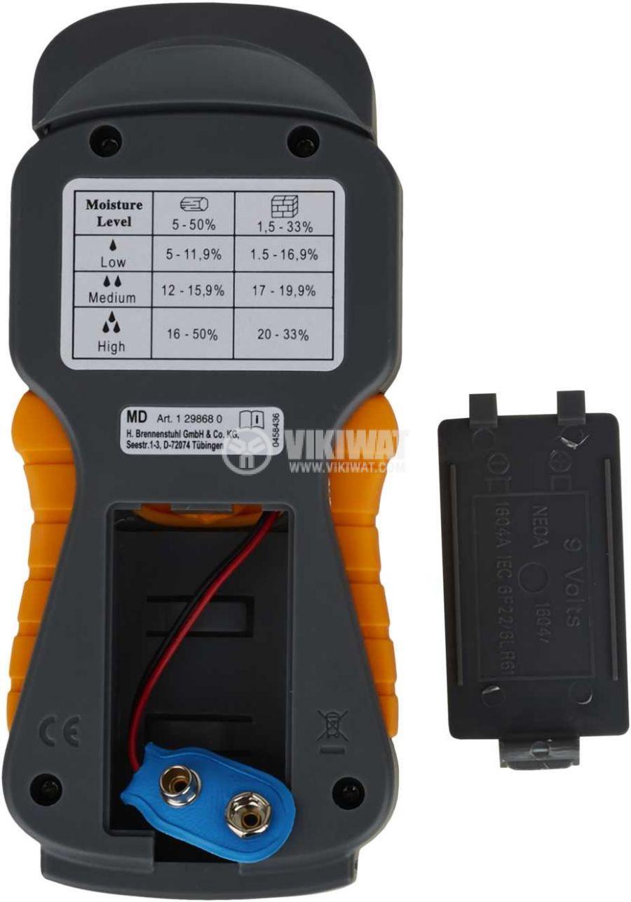 Влагомер с LED дисплей за бетон, дървесина, почва MD, Brennenstuhl - 7